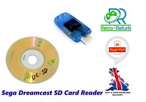 Dreamshell SD Card Reader Adapter For Sega Dreamcast + Boot Disc - UK Fast Post