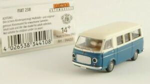 Brekina Fiat 238 bus ambulanza Falck furgone modello bianco blu grigio H0 1:87