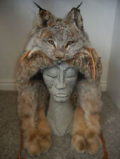 LYNX Fur Mountain Man Face Hat Luxurious Trooper Winter Full Pelt *RARE* (NEW)