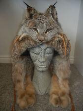 LYNX Fur Mountain Man Face Hat Luxurious Trooper Winter Full Pelt *RARE* (NEW)