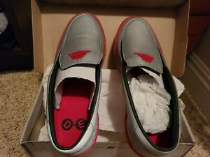 DEVO shoes Grey/Red 3M Reflective Size 10 Brand New In Box