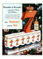 1953 Seagram's PRINT AD Seven 7 Crown Whiskey