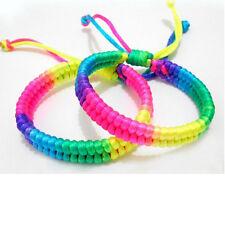 3pcs Bracelets for Women Rainbow string adjustable bracelet women men handmade
