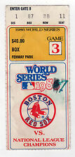 1986 WORLD SERIES TICKET Fenway Park BOSTON RED SOX New York Mets STUB MLB Ojeda