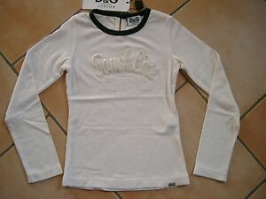 (C338) Dolce & Gabbana Girls Shirt tailliert + Strass Besatz & Stickerei gr.140
