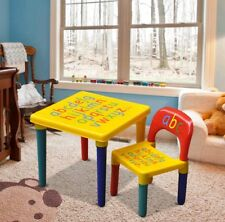 ABC Alphabet Childrens Plastic Table and Chair Set - Kids Toddlers Childs-gift K