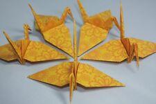20 Origami grúas, amarillo brillante estilo Indio Diseño de Flores, India, Floral