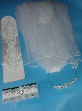 Fancy Dress Stag Do Hen Party Wedding Veil, Tiara, Garter, Gloves - Mens Ladies