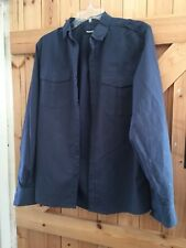 "Peacocks Pinstripe Casual Shirt Size S Chest 34"" Navy Blue With Pink Pinstripe"