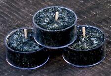 10pk PATCHOULI, OUD WOOD & BLACK ROSE Natural TEA LIGHT CANDLES 60 hrs/pack
