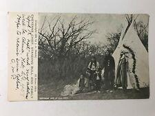 Cheyenne Chief Standing Bull & Family El Reno Oklahoma Native American Postcard