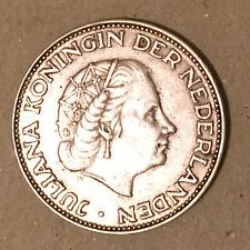 1961 Netherlands Silver 2 1/2 Gulden XF/AU