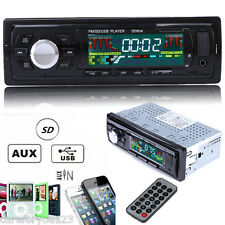 Car In-Dash Stereo Audio FM Aux Input Receiver with SD USB MP3 Radio Player 12V