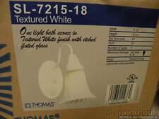 GLASS WHITE WALL SCONCE LIGHT THOMAS LIGHTING NEW