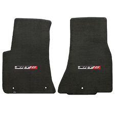 Challenger 2011+ 2Pc Car Floor Mats Carpet Black Ebony Velourtex Srt8 Logo