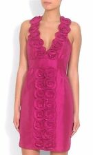 LAUNDRY BY SHELLI SEGAL LOS ANGELES HOT PINK HALTERNECK DRESS RETAIL £240 SIZE 6
