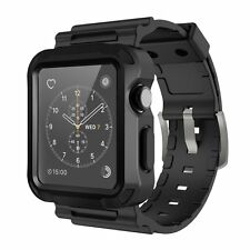 Apple Watch 42mm Series 3/1 Strap Band Flexible Hard shell Rubber Anti Scratch