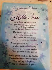 PLASTIC COATED MEMORIAL CARD IN LOVING MEMORY OF A SPECIAL LITTLE STAR