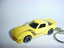 NEW 3D YELLOW MAZDA RX-7 CUSTOM KEYCHAIN keyring key racing BACKPACK BLING!