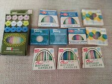Lot of 11 packages of Vintage Birthday Candles