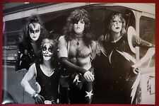 Kiss Rock Band Bus Black & White Simmons Stanley Peter Ace Poster 24X36 NEW