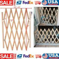 Folding Dog Gate Safety Fence Pet Protection Wood Door Cat Dog Pet Barrier US*