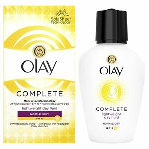 Olay 3-In-1 Lightweight Day Fluid Normal To Oily Skin SPF15 Complete Care 100ml