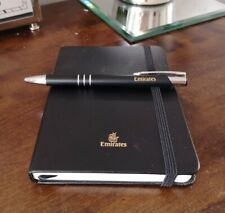 Emirates First Class Leather Writing Set Pen Notebook And Leather Surround