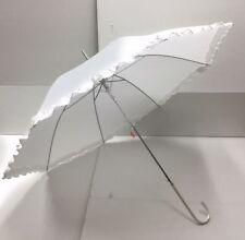 "White Bride Bridal Wedding Parasol Waterproof Rain Umbrella 37 X 34 """