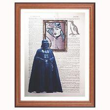 Diccionario De Darth Vader vs Lichtenstein-impresión de arte de Star Wars Regalo de arte pop desnuda