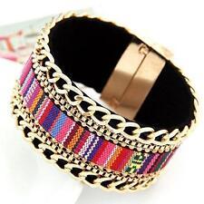 Fabric Alloy Costume Bracelets without Stone