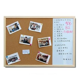 Magnetic White Boards Dry Wipe Cork Combination Pine Wood Frame Drawing 3:1 30cm