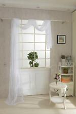 550 * 80cm White Solid Voile Sheer Window Drape Valance Pelmet Curtain Scarf