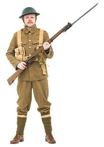 WW1 British army Uniform with webbing and helmet - made to order