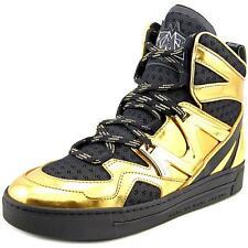 Marc By Marc Jacobs Ninja Hi-Top Women US 6 Gold Fashion Sneakers