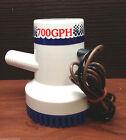 "Marine Boat  700 GPH ABS Manual Bilge Pump 12V Straight hose Adaptor 3/4"" Hose photo"