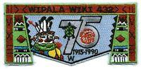 WIPALA WIKI LODGE 432 OA FLAP GRAND CANYON 75TH ANN 1990 NOAC SCOUT PATCH 1990