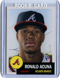 2018 Topps Living Set #19 Ronald Acuna Jr. Rookie Card NM Atlanta Braves