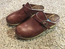 Vintage MIA Clogs Size 38 Brown Made In Sweden