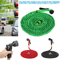 25-200 FT Garden Hose Expandable Flexible Water Hose Water Pipe w/ Spray Nozzle