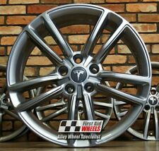 """R542FG YOURS for Ours TESLA MODEL S 4x 19"""" GENUINE BASE FERRIC GREY ALLOY WHEELS"""