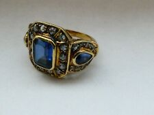 Goldplated Silver ring - marked 925 - size 53