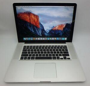 "15"" Apple MacBook Pro 5,1 Laptop A1286 Intel C2D 2.4GHz 6GB 250GB OS X 10.11"