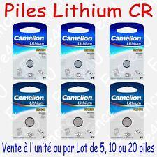 Pile Lithium 3V CR1216 CR1220 CR1225 CR1616 CR1620 CR1632 … ( x 1 ou par Lot )