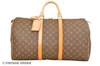 Louis Vuitton Monogram Keepall 50 Travel Bag M41426 - YG01243