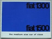 FIAT 1300 & 1500 Car Sales Brochure c1963 #1736