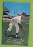 "Autographed 3-1/2"" x 5-1/2"" Postcard - Don Drysdale (d 1993) Hall of Fame Member"