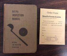 Rare 1970 NFPA Inspection Manual National Fire Protection With Order Form