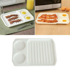 Microwave 2-in-1 Bacon And Egg Cooker Quick Breakfast Ovenware Baking Tray Plate