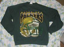 VTG 1997 Green Bay Packers Dark Green Men's Sweatshirt sz L Football Helmet 90s